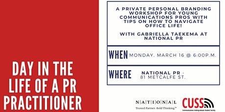 Day in the life of a PR practitioner: NATIONAL Public Relations tickets