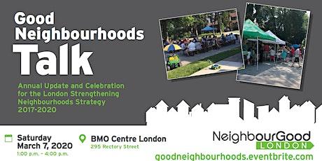 Good Neighbourhoods Talk 2020 tickets