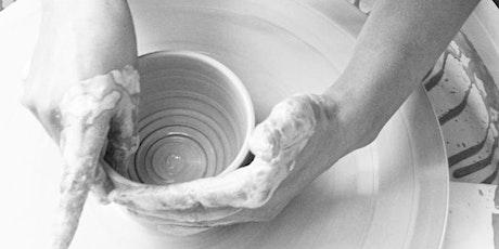 Taster: Beginners Throwing Pottery Wheel Class Sat 27th Jun (temp) 1-3pm tickets