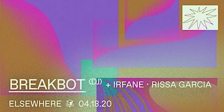 Breakbot (DJ Set), Irfane & Rissa Garcia @ Elsewhere (Hall) tickets