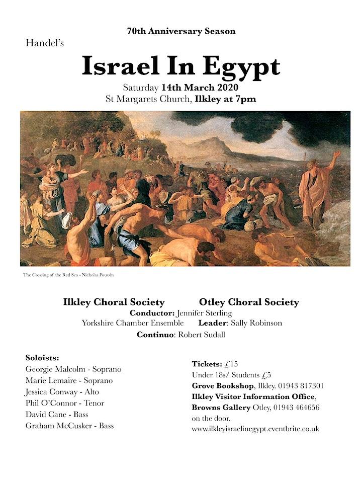 Israel In Egypt, Handel.  Ilkley Choral Concert image