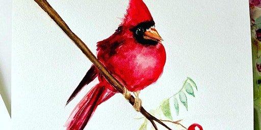 Vibrant Cardinals - Beginner's Watercolor Class - Mount Ulla