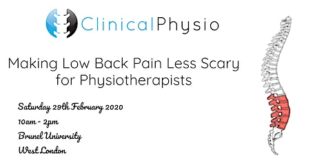 Making Low Back Pain Less Scary for Physiotherapists @Brunel University tickets