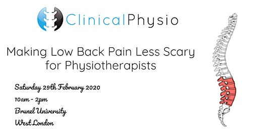 Making Low Back Pain Less Scary for Physiotherapists @Brunel University