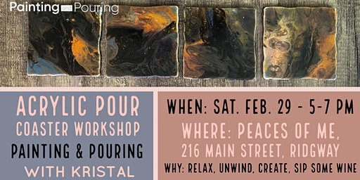 Acrylic Pouring Workshop: Coaster Set