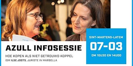 Azull infosessie ism Ilse Jodts, Legal & Taxes op 7 maart om 10.30u en 14u tickets