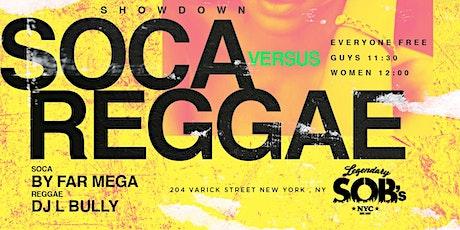 Carib Saturdays: SOCA vs REGGAE SHOWDOWN at SOBs tickets