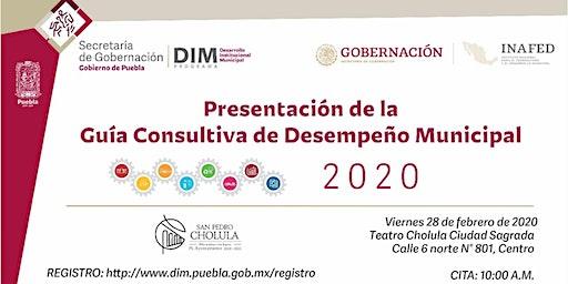 Presentación de la Guía Consultiva de Desempeño Municipal 2020 - Puebla
