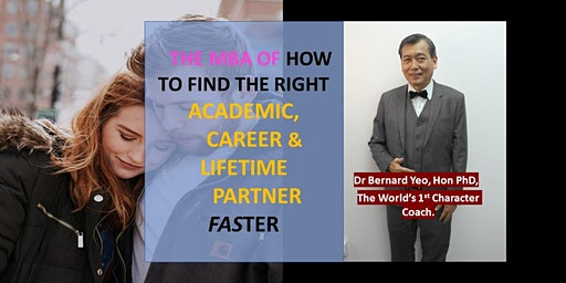 [FREE Seminar:The MBA of Study, Work & Marriage. Get All RIGHT At One Go ]*
