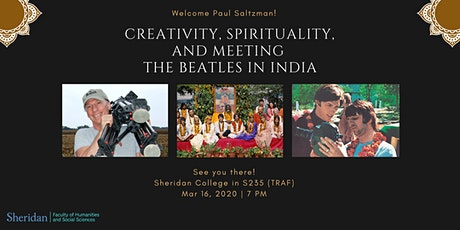 Creativity, Spirituality, and Meeting The Beatles in India tickets