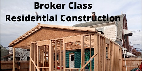 Broker-Fundamentals of Residential Construction tickets