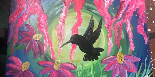 Paint&Sip Majestic Hummingbird 3/7