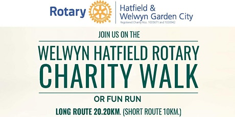 Welwyn Hatfield Rotary Charity Walk round Welwyn G tickets