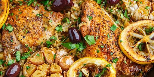 Mediterranean Series: Greek Lemon Chicken & Pasta Salad