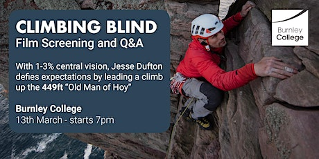 'Climbing Blind' Film Screening and Director Q&A | Open to the Public tickets