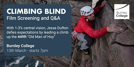 'Climbing Blind' Film Screening and Director Q&A | Open to the Public