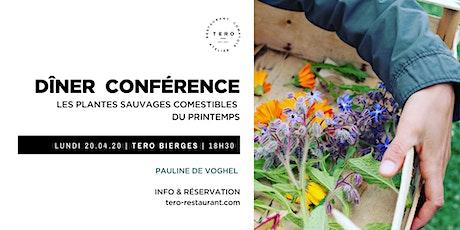 DÎNER CONFÉRENCE  _  Plantes sauvages comestibles  _ Printemps Bierges billets