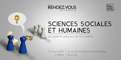Rendez-vous du Faubourg : Sciences sociales et humaines billets