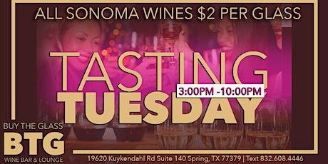 Tasting Tuesday | Wines $2 Per Glass biglietti