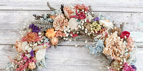 Dried flower wreath workshop, Cheltenham, Gloucestershire tickets