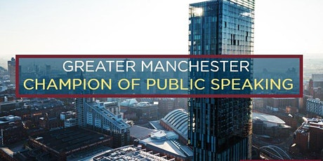 Greater Manchester Champion of Public Speaking tickets