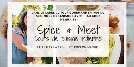 """""""Spice & Meet"""" - Cours de cuisine indienne avec Au Goût d'Emma.be billets"""