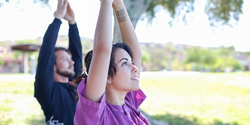 Stretching and breathing meditation