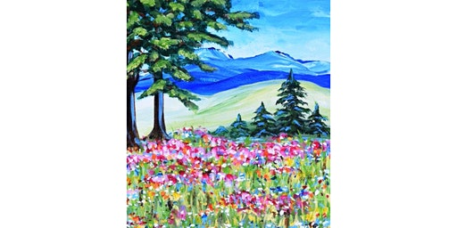 "4/20 - Corks and Canvas Event @ Vino at The Landing, Renton ""Mountain Meadow"""