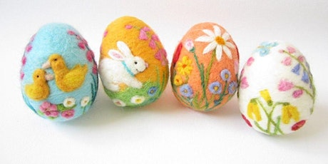 Needle Felted Easter Eggs: Family Craft Night tickets