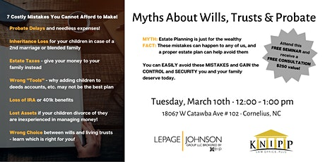 Estate Planning Seminar with Knipp Law tickets