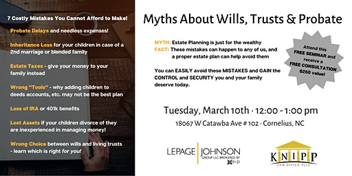 Estate Planning Seminar with Knipp Law