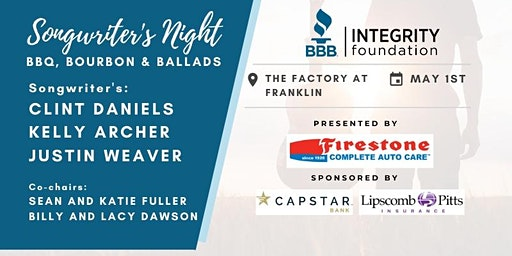 BBB Integrity Foundation Songwriter's Night 2020