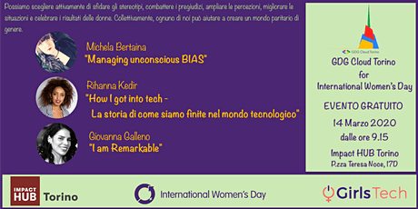 GDG Cloud Torino 4 IWD tickets