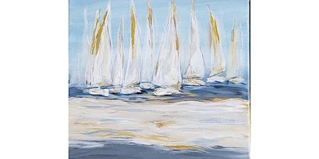 "4/21 - Corks and Canvas Event @ Fletcher Bay Winery, BAINBRIDGE ""Sailboat Regatta"" tickets"