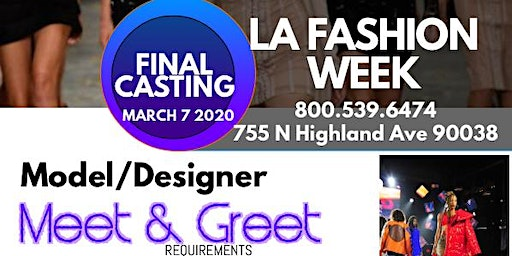 La Fashion Week Mixer Model Designer Meet and Greet