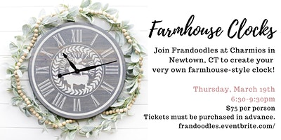Farmhouse Clocks at Charmios