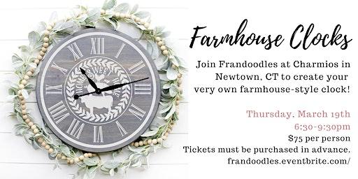 Farmhouse Clocks at Charmios