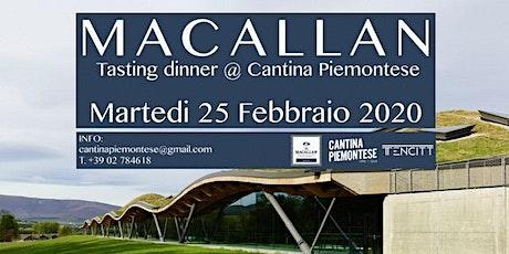 Serata degustazione Macallan @Cantina Piemontese biglietti