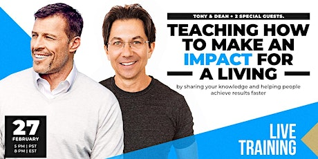LIVE: TONY ROBBINS & DEAN GRAZIOSI Event! (Warsaw) *HAPPENING 2/27/20* tickets