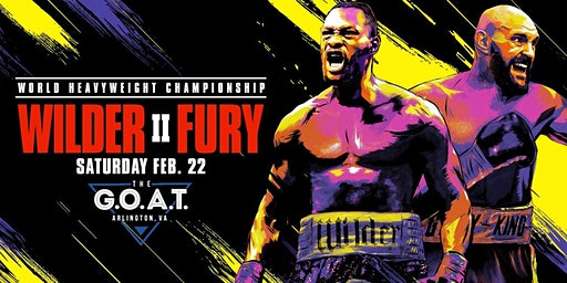 Fight Night Watch Party - Wilder vs Fury 2  at the G.O.A.T!