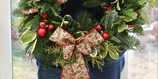 Christmas Wreath Workshop, Cheltenham, Gloucestershire