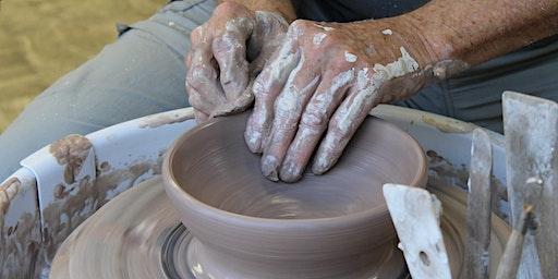 Pottery:  Intermediate Wheel, Wednesdays, 9:00 am - 11:30 am, 3/4/20 - 4/8/20