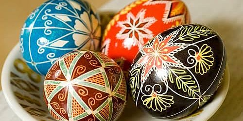 Ukrainian Easter Egg - Wax Batik  (SOLD OUT)