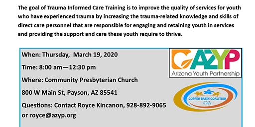 Trauma Informed Care (TIC) training