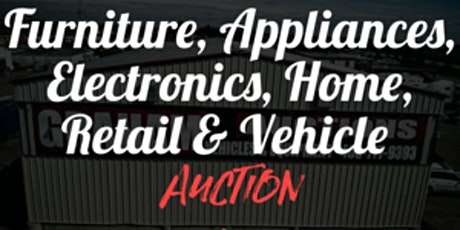 Furniture, Electronics, Home, Retail & Vehicle Auction tickets