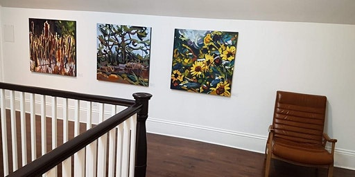Paintings by Michelle Reid on display at The Opinicon Resort
