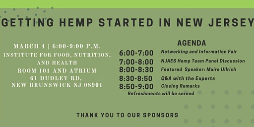 Getting Hemp Started in NJ -- March 4, 2020