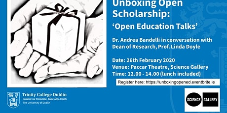 Unboxing Open Scholarship: 'Open Education Talks' tickets