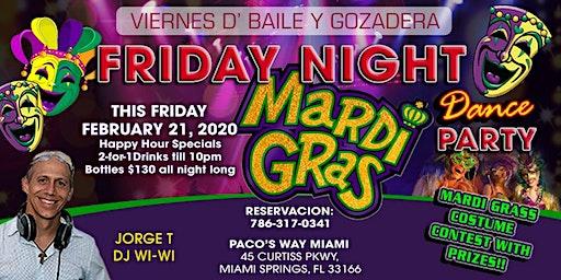 Friday Night Mardi Gras Dance Party