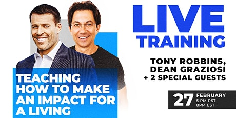 LIVE: TONY ROBBINS & DEAN GRAZIOSI Event! (Ghent) *HAPPENING 2/27/20* tickets